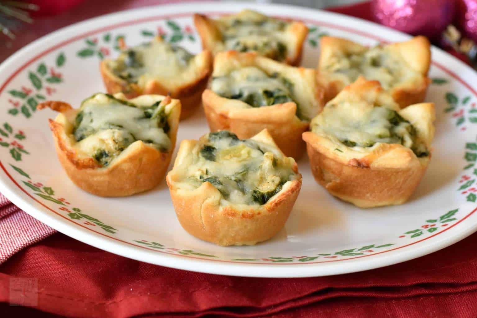 Spiced Artichoke spinach cups
