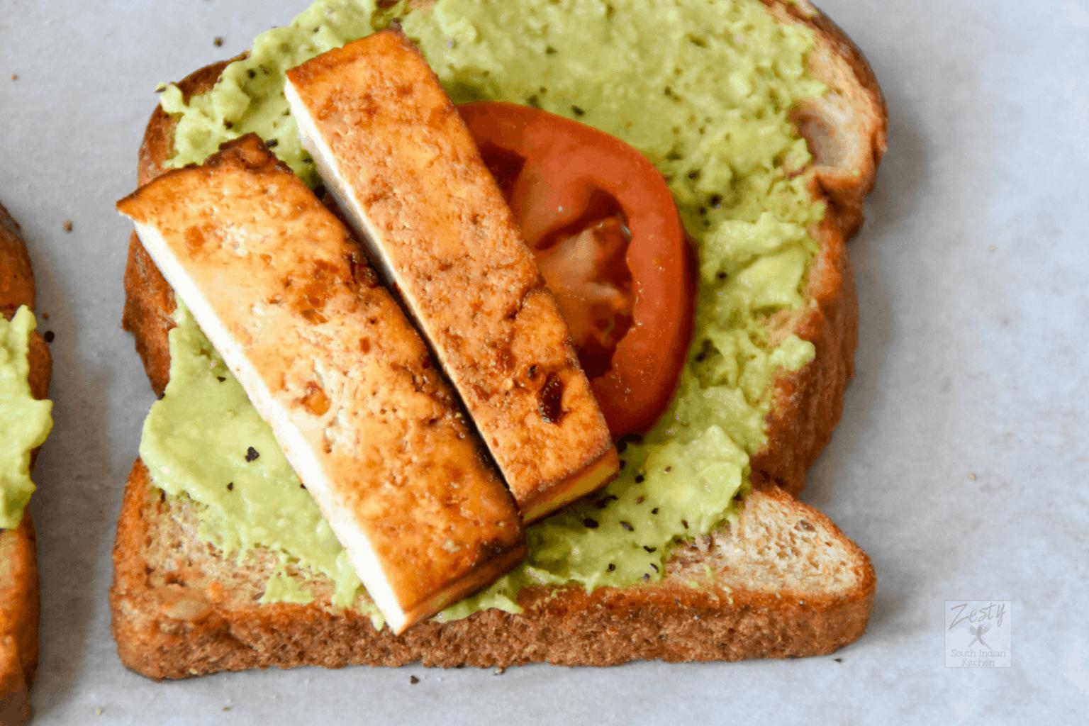 Avocado and Tofu Toasts