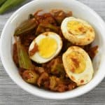 Burmese egg and okra curry