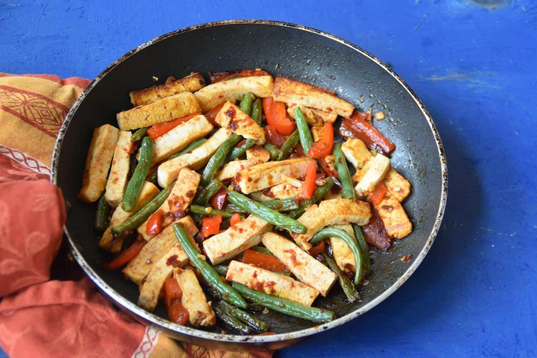 Fiery Tofu Stir Fry