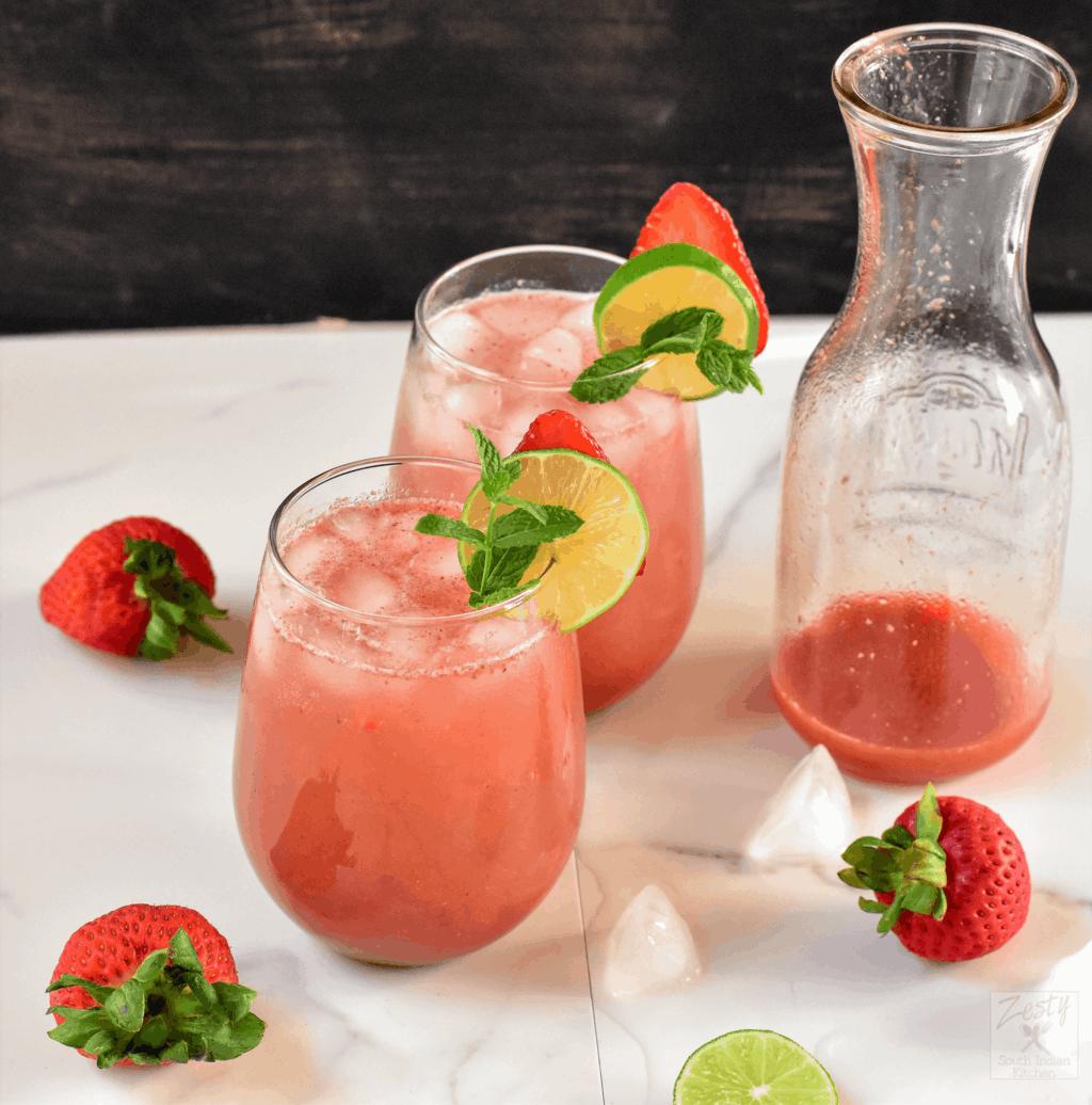 Strawberry Rose Agua fresca