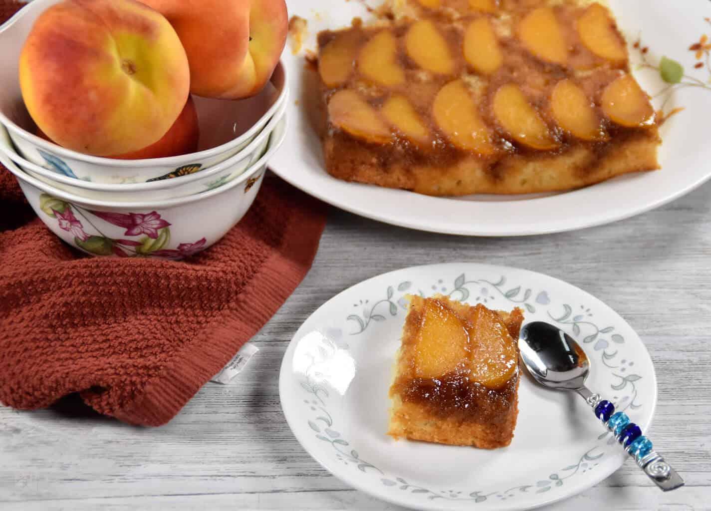 Peach Cardamom Upside Down Cake