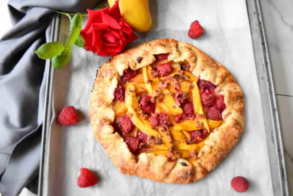 """<img src=""""galette.jpg"""" alt="""" Mango Raspberry Rose Galette 5 """">"""