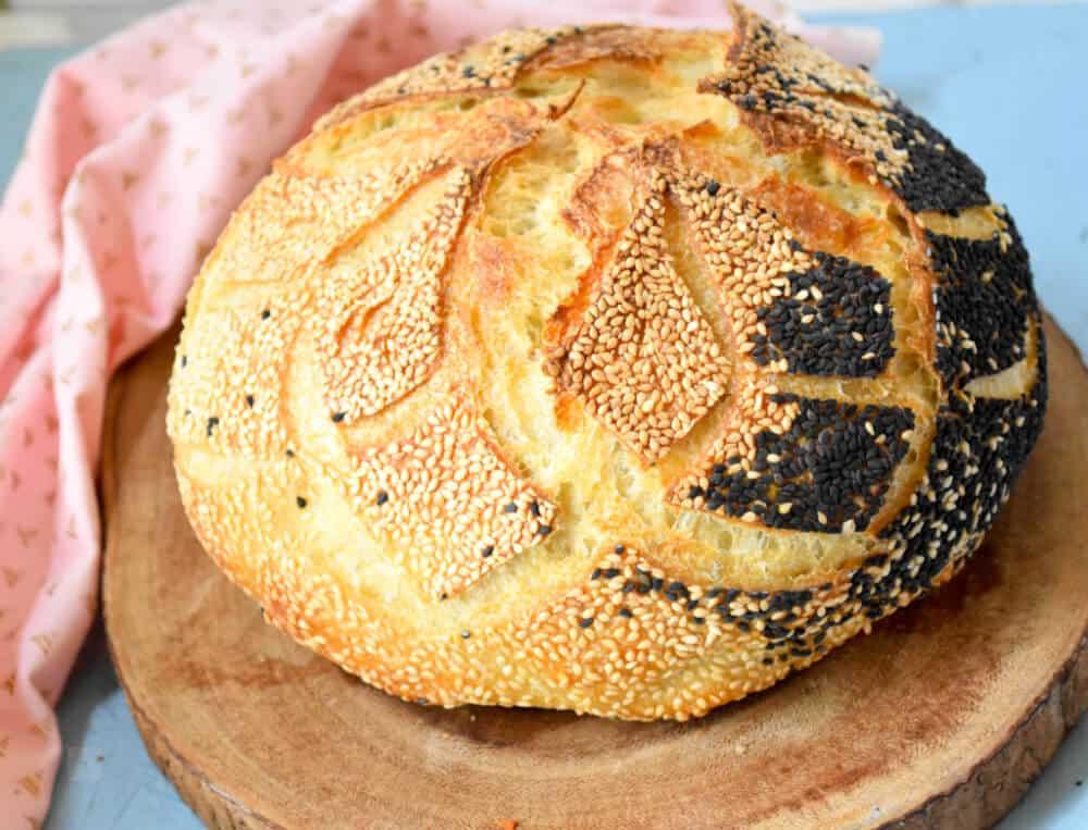 """<img src=""""Sourdough bread.png"""" alt=""""Semolina Sourdough bread """">"""