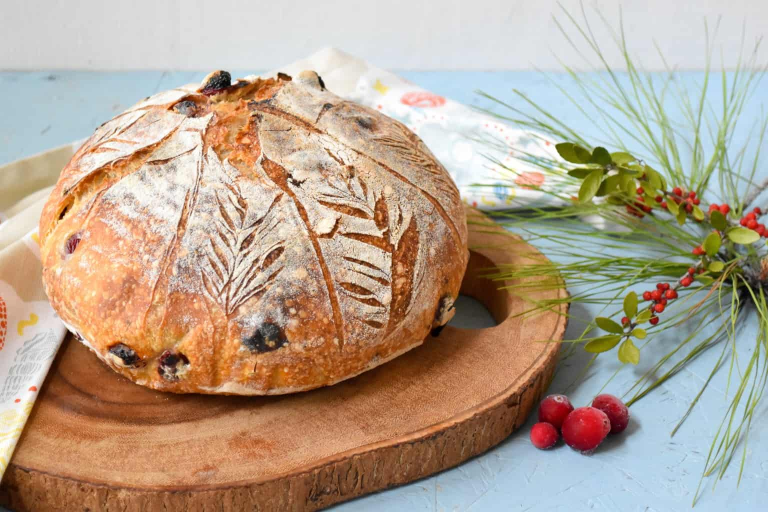 "<img src=""https://cdn.shortpixel.ai/client/q_glossy,ret_img,w_4096,h_2730/Cranberry Pecan Sourdough Bread .jpg"" alt="" whole loaf of Cranberry Pecan Sourdough Bread "">"