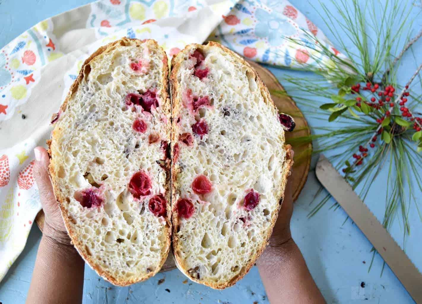 "<img src=""https://cdn.shortpixel.ai/client/q_glossy,ret_img,w_4096,h_2950/Cranberry Pecan Sourdough Bread .jpg"" alt="" Two slices of Cranberry Pecan Sourdough Bread "">"
